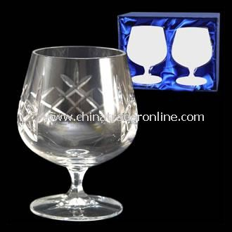 Lead Crystal Brandy Glasses
