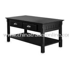 Riley Black Coffee Table with Drawers