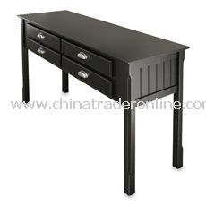 Riley Black Console Table with Drawer from China