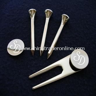 Silver Plated Golf Green Set
