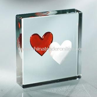 Two Hearts Paperweight