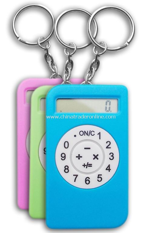 8 digits calculator with metal key chain