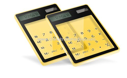 Transparent Touchscreen Calculator