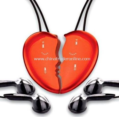 Heart Shape Necklace Music MP3 Player