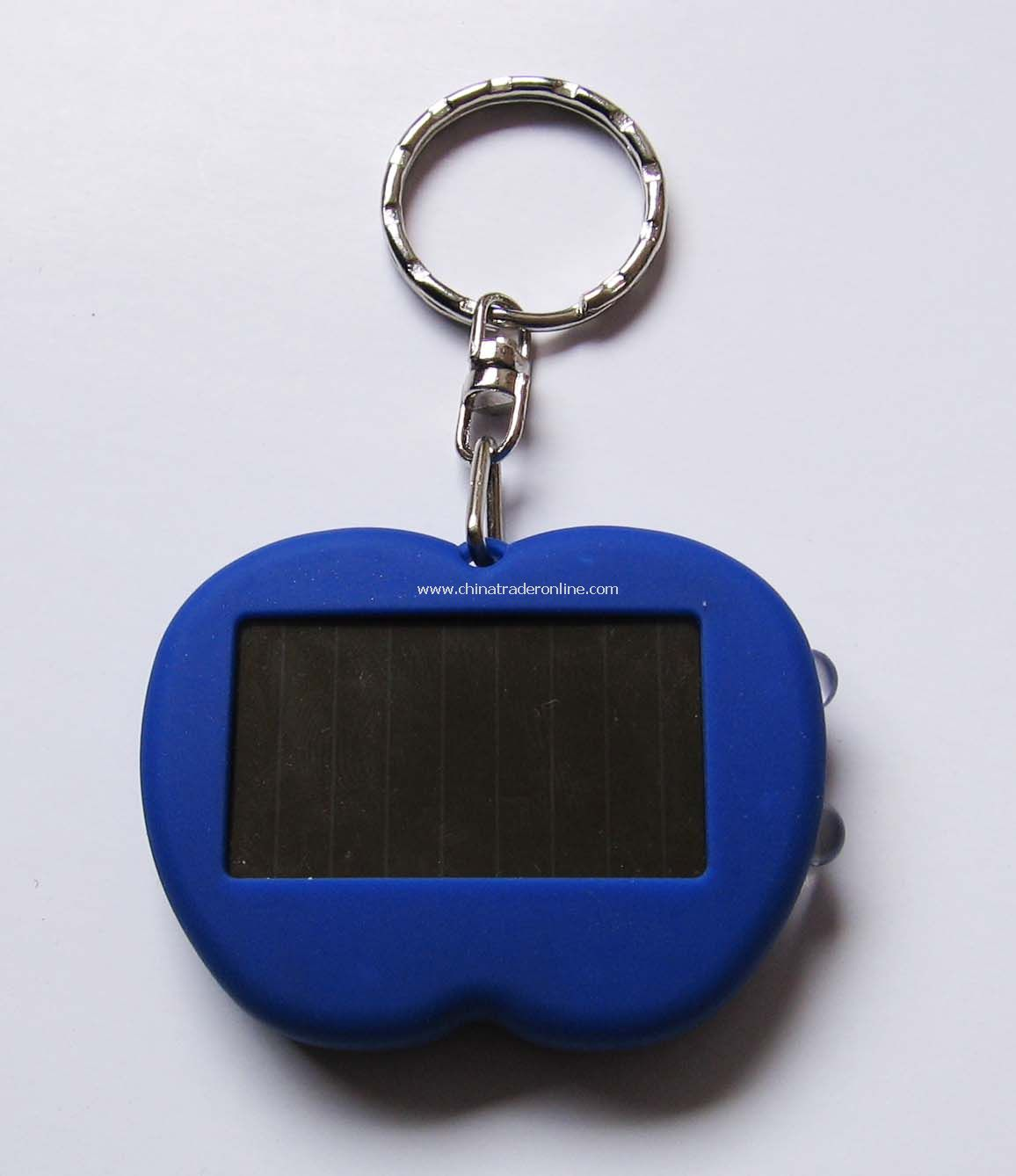 Apple Shaped Solar LED Keychain Torch