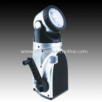 Dynamo Flashlight/LED Cranking Flashlight