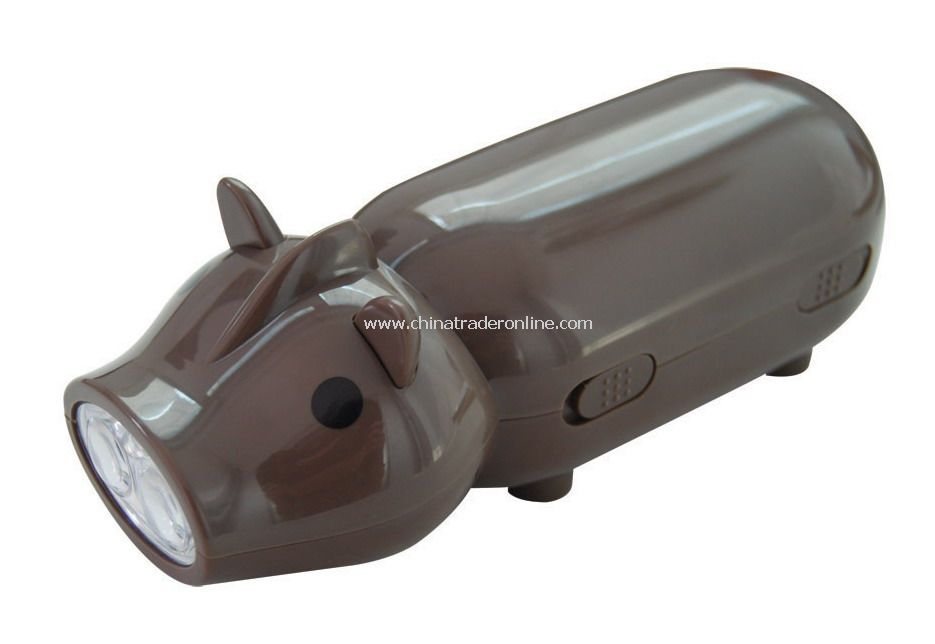 Pig-shaped Hand-pressed Flashlight