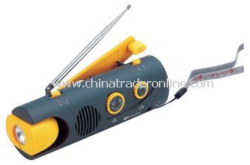Dynamo LED Torch with AM/FM Radio