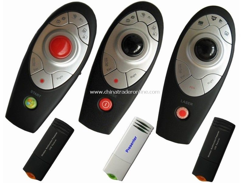 Usb Samrt Wireless Pc Presenter with Track-Ball Mouse Function