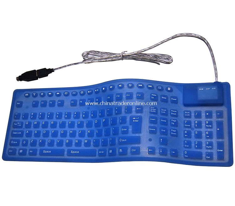 Wired Flexible & Silicon Waterproof Keyboard