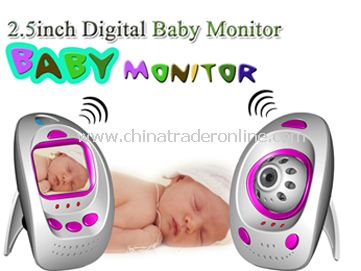 2.4GHz Wireless 2.5 Digital Baby Monitor with 1PCS Wireless Baby Camera from China