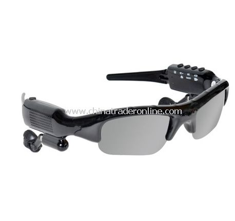 Bluetooth Video Recording Camera Sunglasses MP3 Player with FM