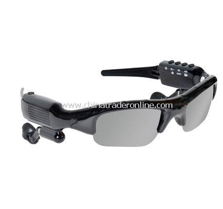 Bluetooth Video Recording Camera Sunglasses MP3 Player with FM