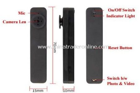 Slim Mini Hidden Button Camera