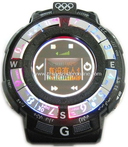 Tri Band Touch Screen Mobile Phone Watch with Bluetooth + Camera
