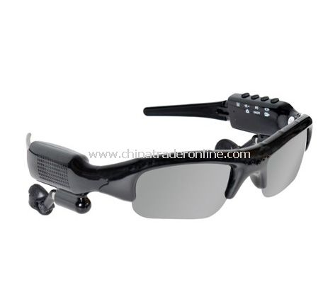Video Recording Camera Sunglasses MP3 Player with FM from China
