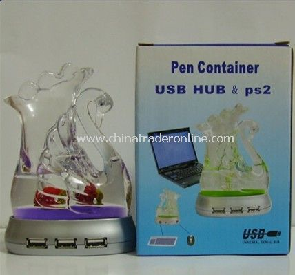 Pen Holder 4 Port USB HUB