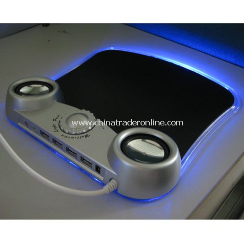 USB Mouse Pad with Mini Stereo Speaker