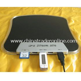 USB Mouse Pad with SD Card Reader