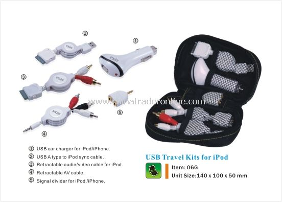USB Travel Kit for ipod