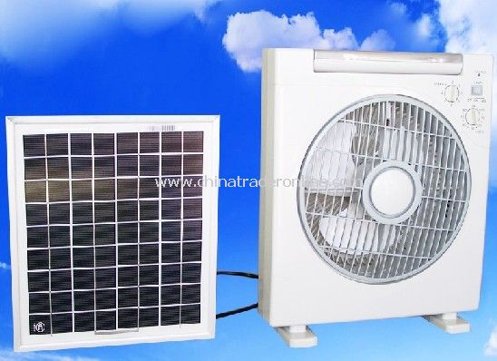 Solar Fan with U Energy-Saving Lamps