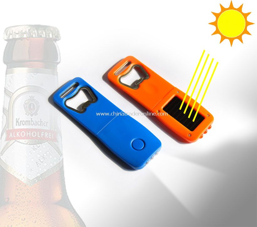 Bottle Opener With Solar Powered LED Lights