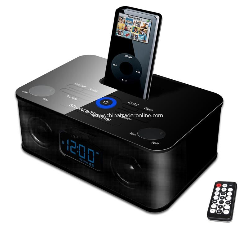 iPod & iPhone Docking Speaker With Clock, Alarm, Fm Radio