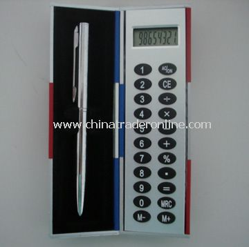 Black Magic Calculator Box with Metal Pen