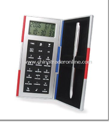 Magic Box With Calculator And World Time Clock