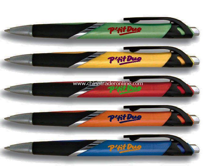 Retractable Pen with bright colored barrel