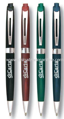 Slim Retractable Clip pen with Nickel Trim