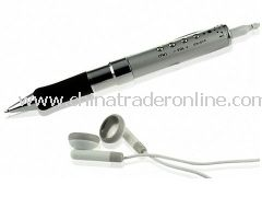 Super MP3 Voice Recorder Pen 2GB with Rubber Grip and FM Tuner
