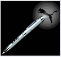 LED torch pen with projector logo for promotions from China