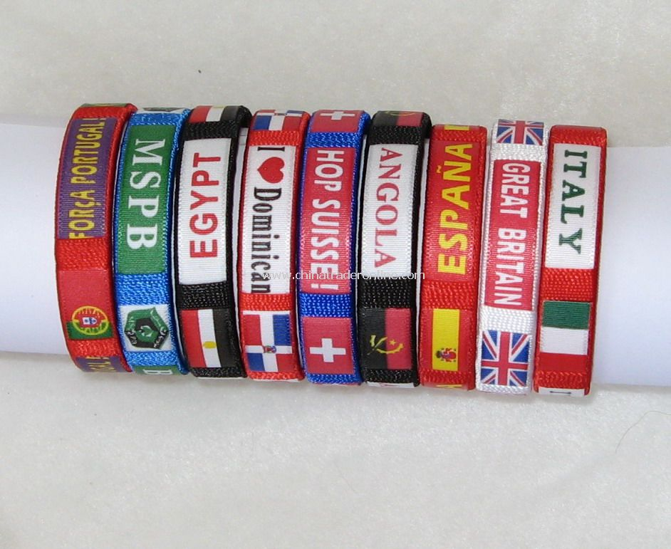 Multi-color Flag Bracelet from China