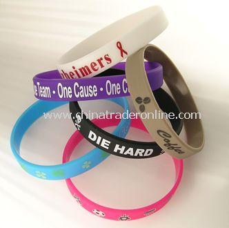 Silicone Rubber Wristband/Bracelet