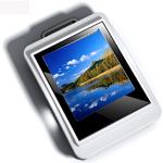 Digital Photo Keychain & Keyring - Silver 1.5 inch