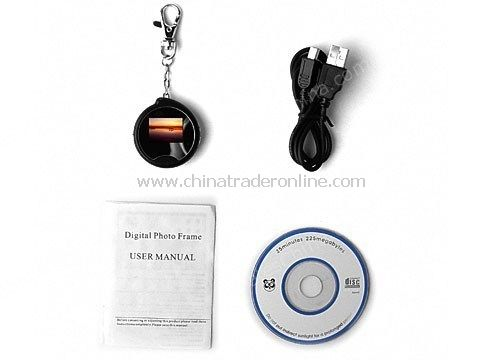 8 MB Mini Digital Photo Keychain With 1.1 Inch CTSN LCD Screen