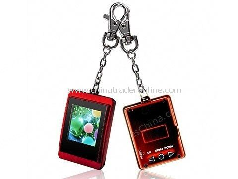 Red 1.5 Inch Mini Keychain Photo Frame 8MB