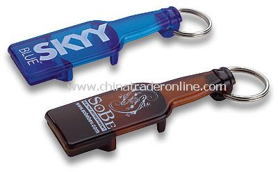 Bottle Shaped Opener Keychain from China