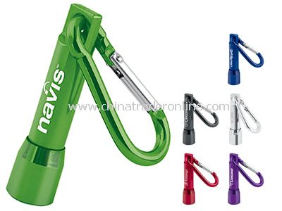 Designer LED Flashlight + Carabiner