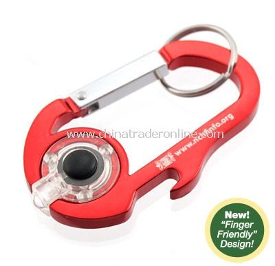 LED Squeezelight Bottle Opener Carabiner