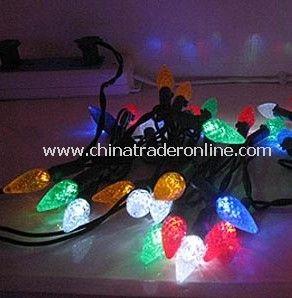 Solar Light String,( Strawberry shape、50heads), Solar Christmas Light, Solar Rope Light