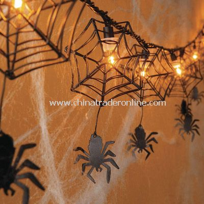 Solar Halloween Light(Cobweb) from China