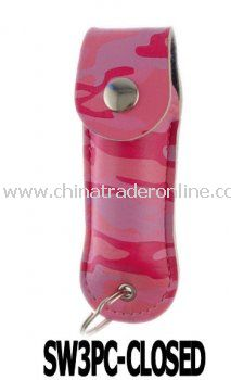 Streetwise Pepper Spray Keychain W/ Pink Camouflage Holster