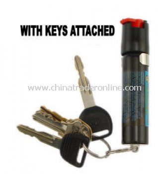 Streetwise Pepper Spray Keychain with Clip and Key Ring