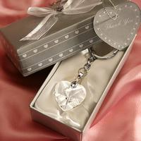 Heart Keychain & Keyring - Crystal