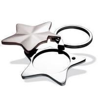Heart Keychain & Keyring - Star Photo Frame