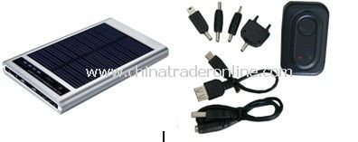 Solar & USB Powered Charger w. Flashlight for Cell Phone MP3 PDA Camera