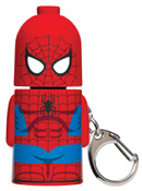 Spiderman Stackems Keychain & Keyring