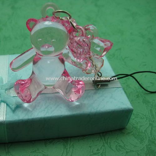 Crystal Bear Mobile Phone Charm